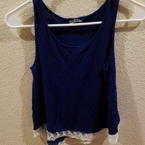 Freshman shirt juniors, size 12/14, blue and white